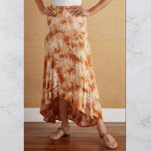 Soft Surroundings Tie-Dye Sunset Maxi Skirt  M